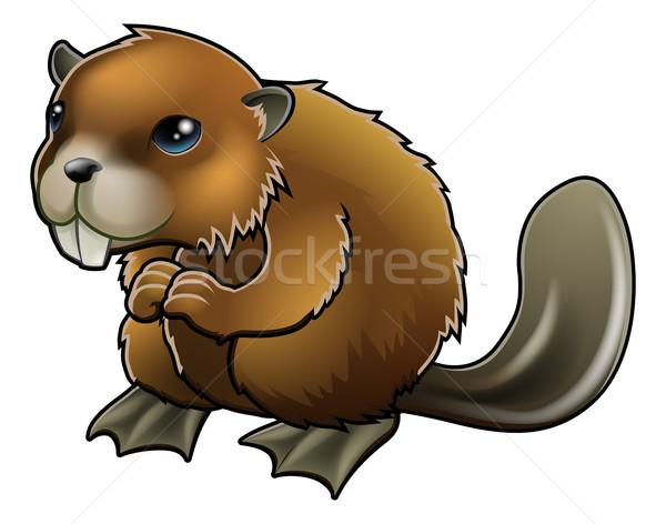 Cute Beaver Stock photo © Krisdog