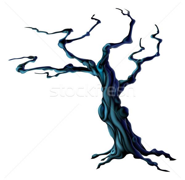 Spooky Halloween Tree Stock photo © Krisdog