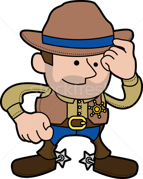 Illustration of cowboy sheriff Stock photo © Krisdog