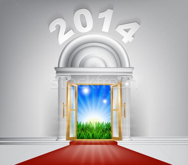 Новый год новых рассвета двери 2014 иллюстрация Сток-фото © Krisdog