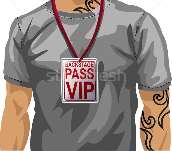 Illustratie man vip badge Stockfoto © Krisdog