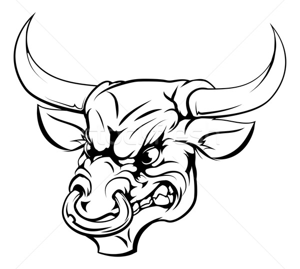 Bull mascot character Stock photo © Krisdog