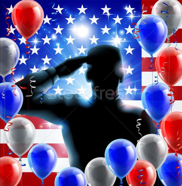Soldier Salute Concept Stock photo © Krisdog