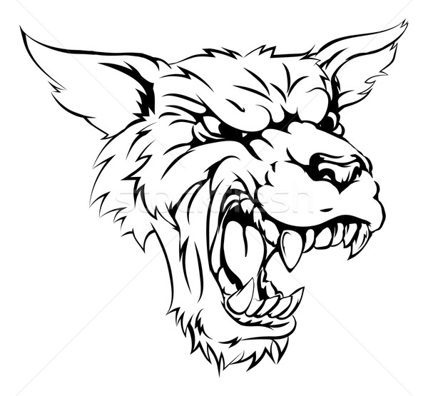 Werewolf or wolf character vector illustration christos georghiou krisdog 5169738 - Loup garou coloriage ...
