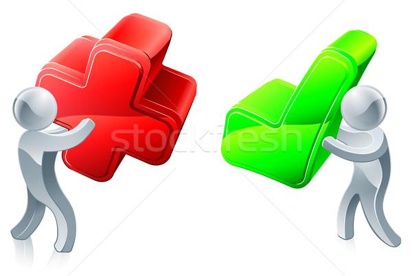 Opinión personas cruz roja verde Foto stock © Krisdog