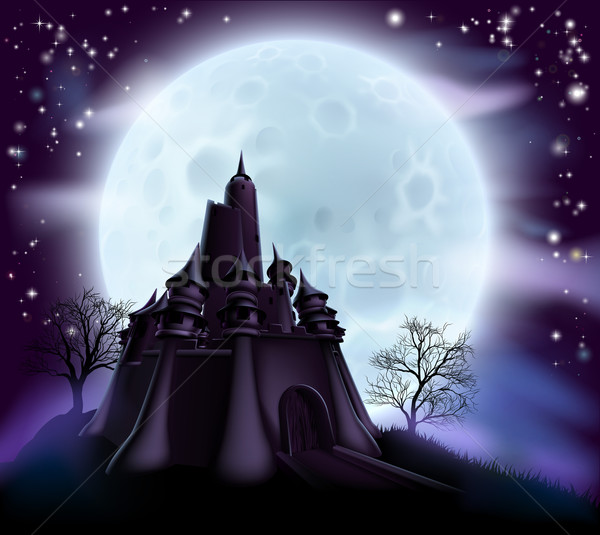 Halloween Castle Background Stock photo © Krisdog