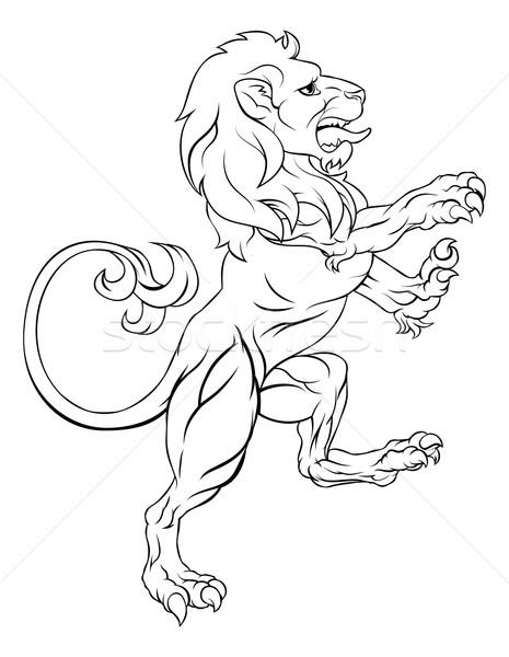 Jas armen kuif leeuw zoals kunst Stockfoto © Krisdog