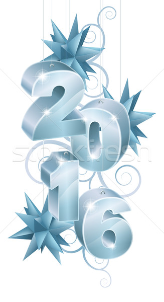 2016 Christmas or New Year Decorations Stock photo © Krisdog