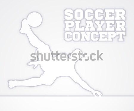Soccer Football Silhouette Player  Stock photo © Krisdog