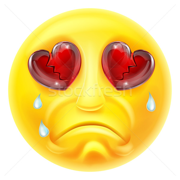 Huilen emoticon cartoon karakter ogen triest Stockfoto © Krisdog