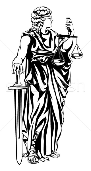 Lady Justice Illustration Stock photo © Krisdog