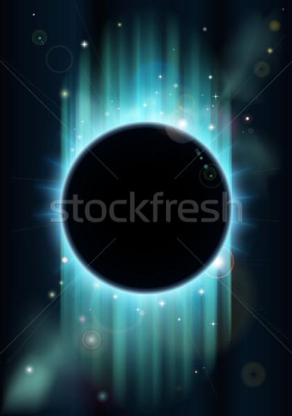 Absztrakt fogyatkozás kék zöld űr copy space Stock fotó © Krisdog
