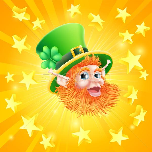 St Patricks day leprechaun background Stock photo © Krisdog