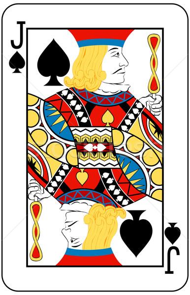 Picche giocare carta nero giocare gioco Foto d'archivio © Krisdog