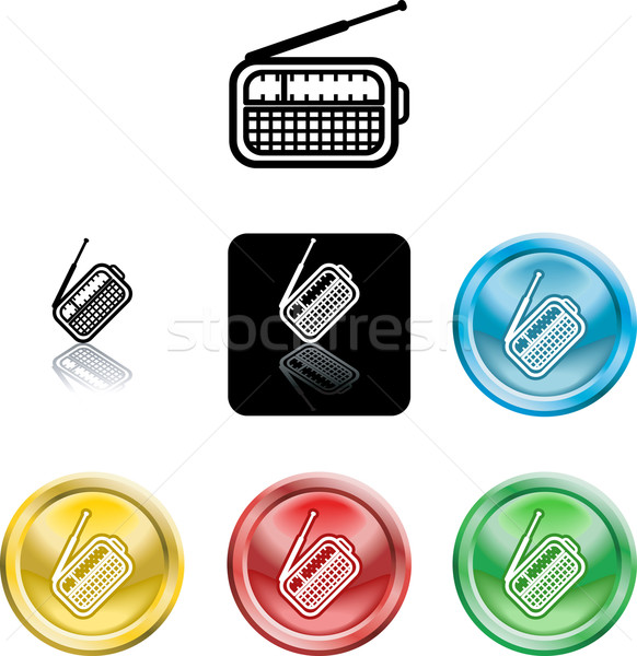radio symbol icon Stock photo © Krisdog