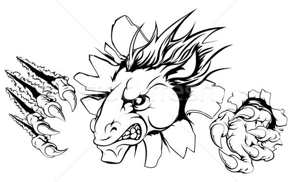 馬 怖い マスコット シャープ 手 ストックフォト © Krisdog