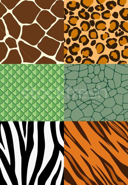 Stock photo: Animal print seamless patterns