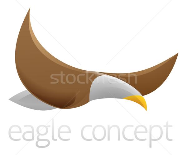 Flying eagle design Stock photo © Krisdog