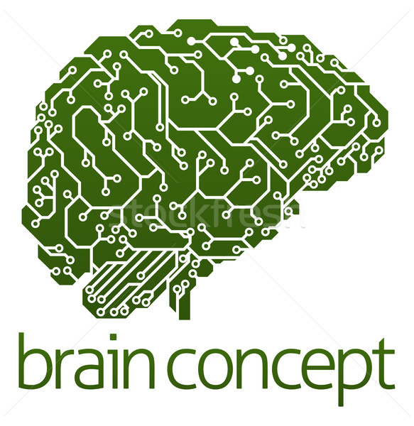 Electrical circuit board brain Stock photo © Krisdog