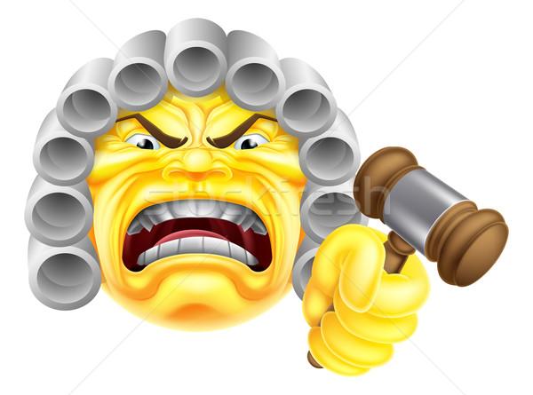 Angry Judge Emoji Emoticon Stock photo © Krisdog