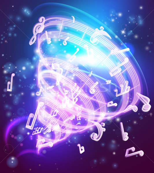Abstract Magic Music Musical Notes Background Stock photo © Krisdog