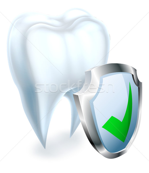 Tooth and Shield Concept Stock photo © Krisdog