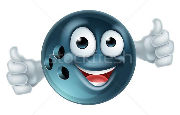 Cartoon palla da bowling carattere bowling mascotte uomo Foto d'archivio © Krisdog