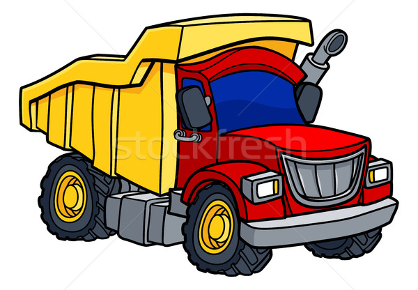 Cartoon Dump Truck  Stock photo © Krisdog