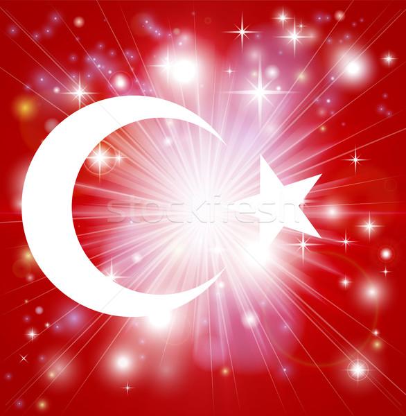 Turkish flag background Stock photo © Krisdog