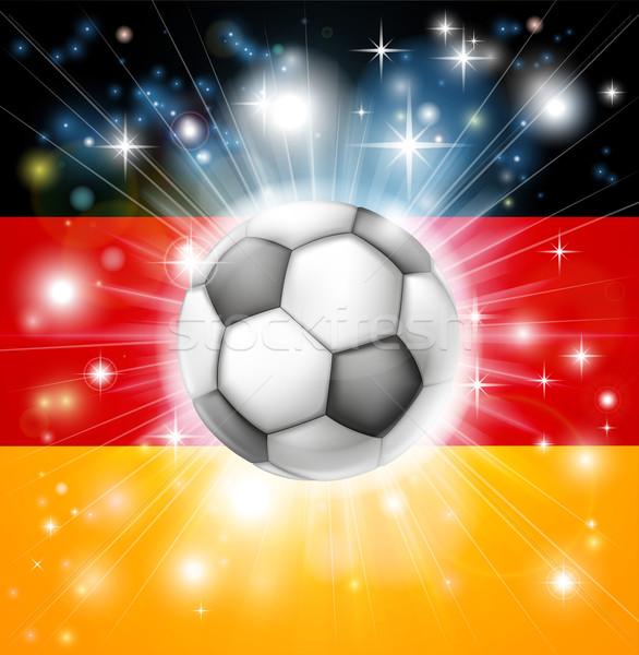 German soccer flag Stock photo © Krisdog