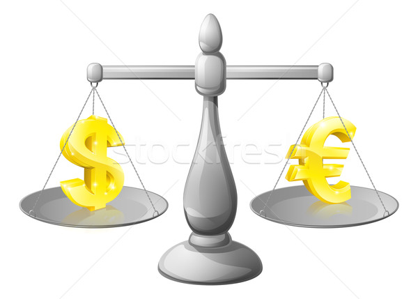 Currency scales concepts Stock photo © Krisdog