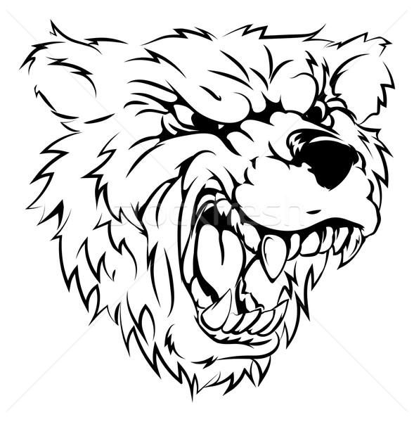 Bear mascot character Stock photo © Krisdog