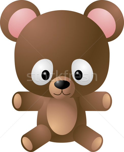 Teddybeer illustratie cute baby cartoon Stockfoto © Krisdog
