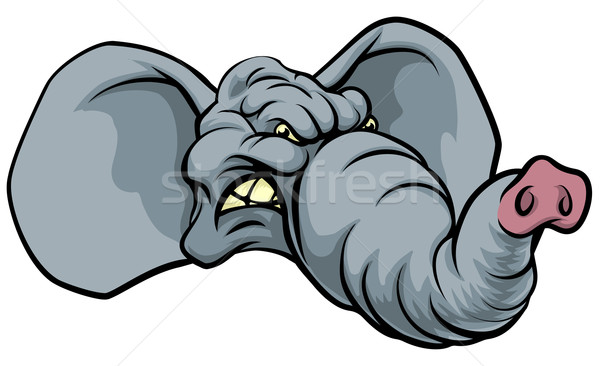 Cartoon Elephant Mascot Stock photo © Krisdog