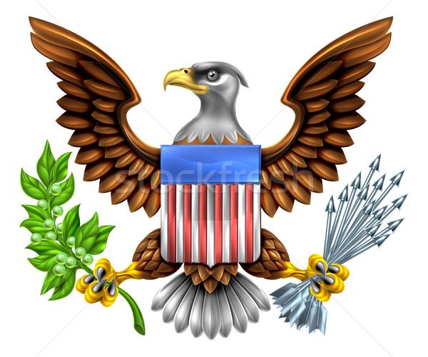 American Shield Eagle Design Stock photo © Krisdog