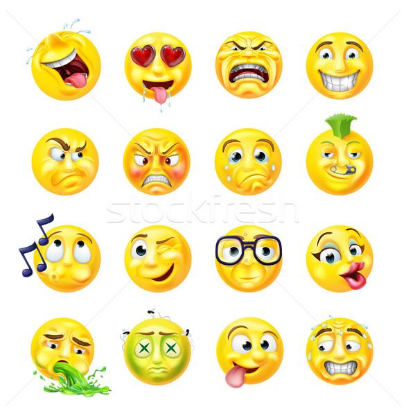 Emoji Emoticon Set Stock photo © Krisdog