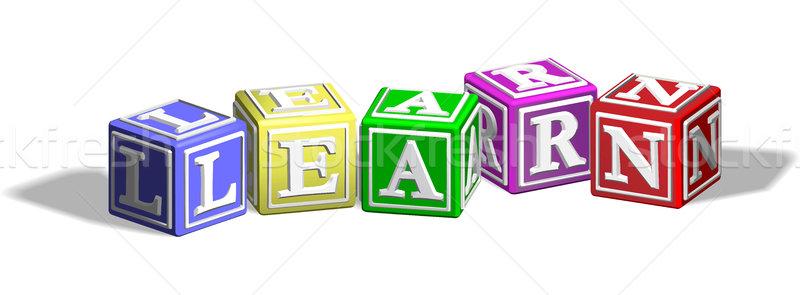 Learn alphabet blocks Stock photo © Krisdog