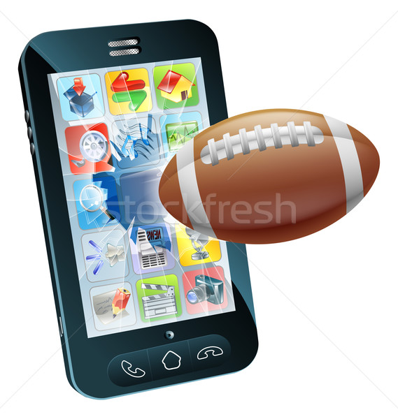 Amerikan futbol top cep telefonu örnek uçan Stok fotoğraf © Krisdog