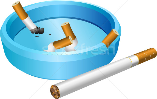 Posacenere sigaretta fumo blu fumare Foto d'archivio © Krisdog