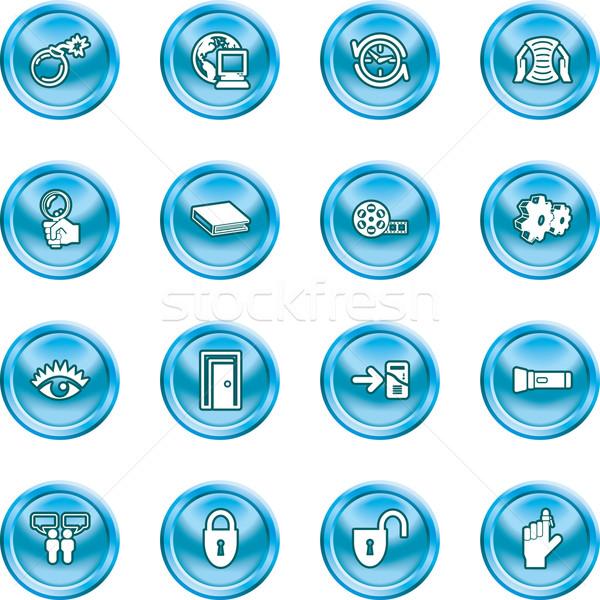 computer and internet icons icons Stock photo © Krisdog