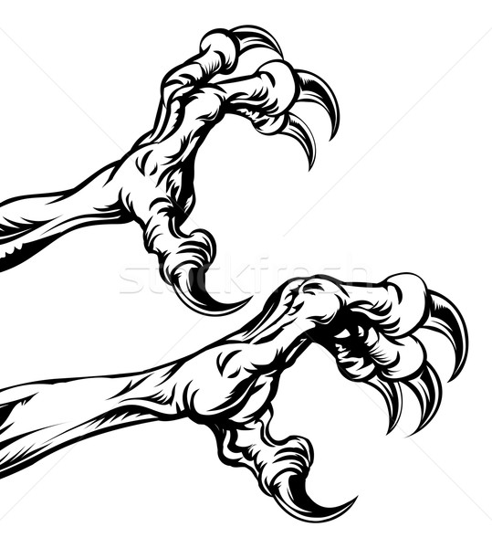 Stock photo: Eagle claws