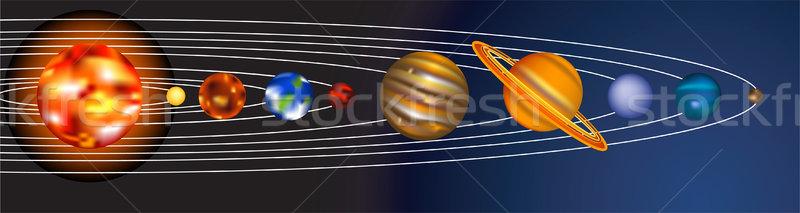 Zonnestelsel illustratie zon wereld star zonne Stockfoto © Krisdog