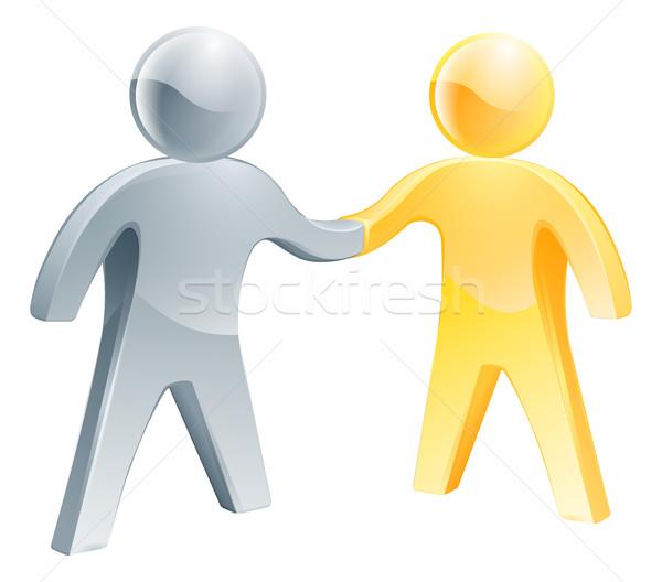 Samenwerking twee business hand man Stockfoto © Krisdog