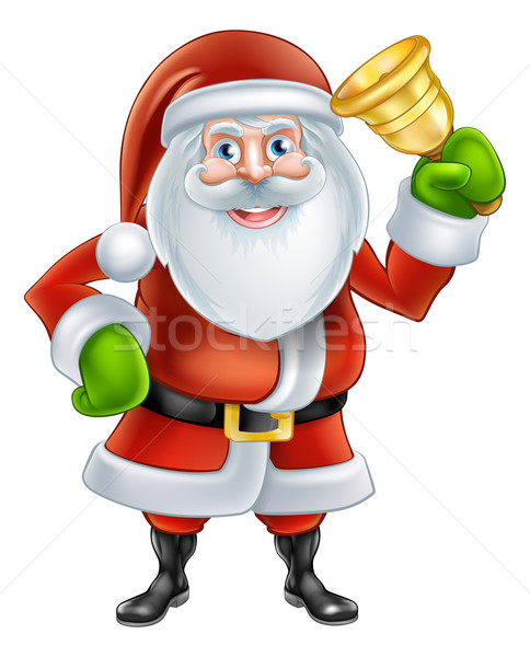 Cartoon Santa Ringing Bell Stock photo © Krisdog