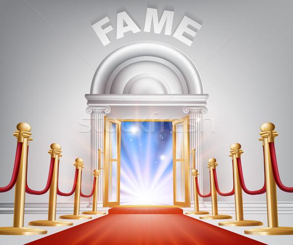Stock photo: Fame Red Carpet Door