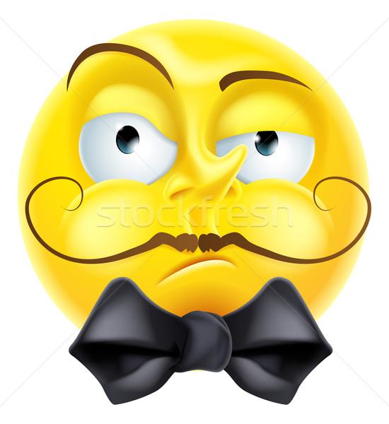 Snooty Emoji Emoticon Stock photo © Krisdog