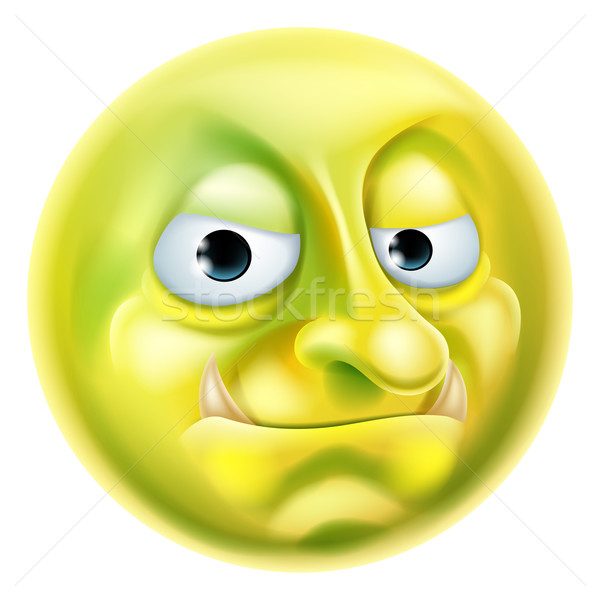 Troll Emoji Emoticon Stock photo © Krisdog