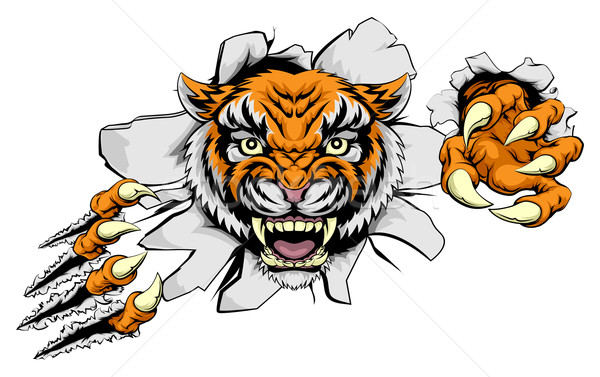 Tiger Attack Concept Stock photo © Krisdog