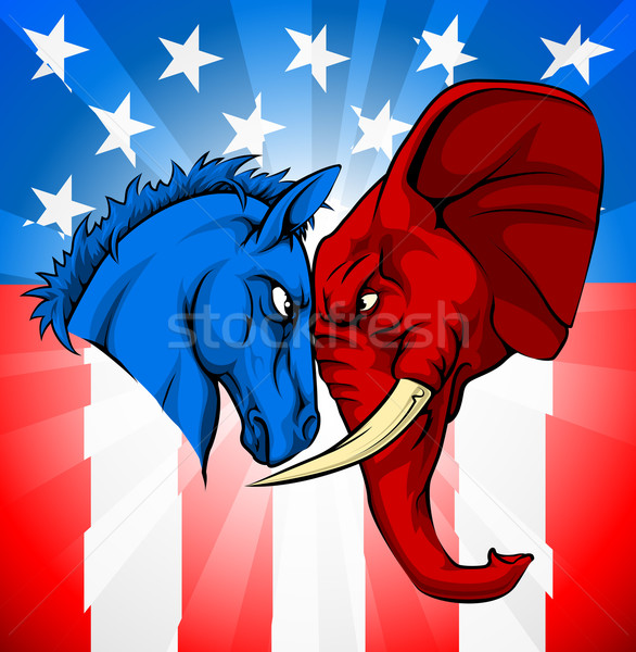 Donkey Elephant American Election Concept Stock photo © Krisdog