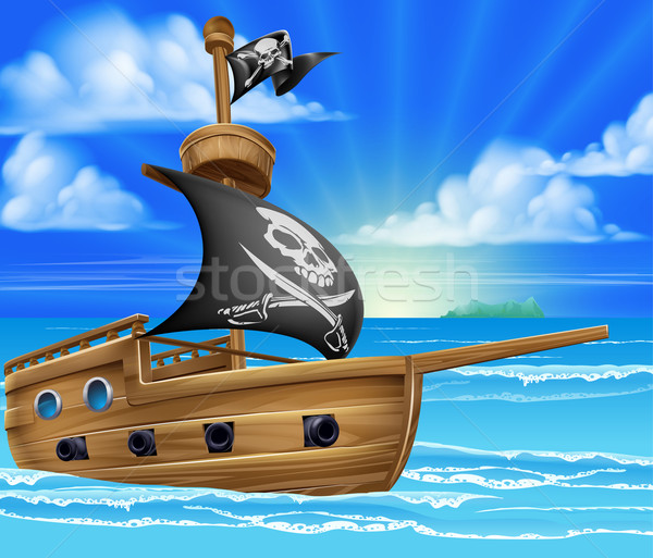 Pirate Ship Sailing Stock photo © Krisdog